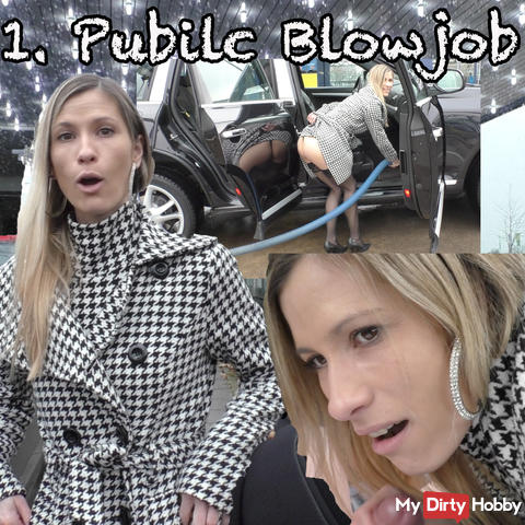 1st public blowjob
