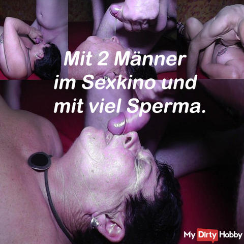 Much sperm in the sexkino of 2 men.
