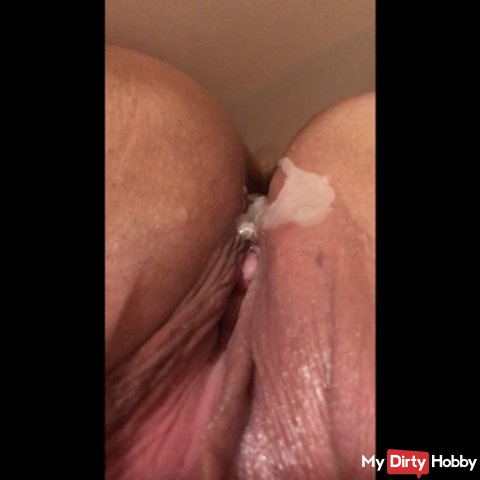 Wax games on the nipple and pussy