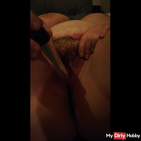 I make myself with the dildo little video