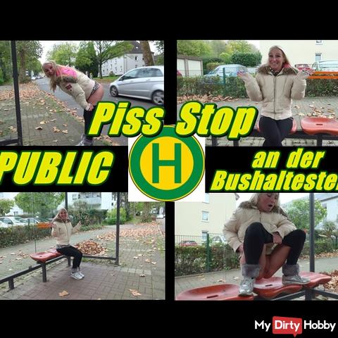 Piss Stop - Public at the Bus Stop