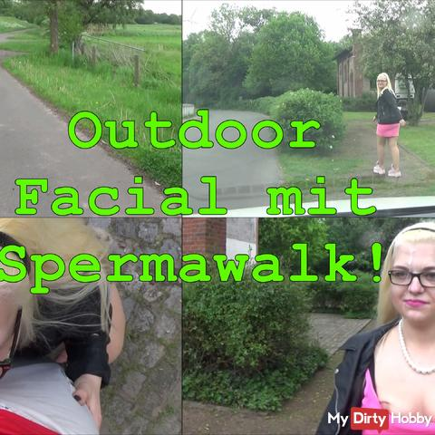 Outdoor Blowjob with spermaw!