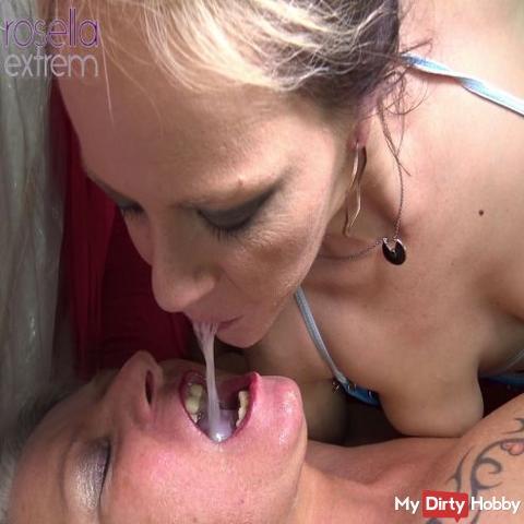 Extreme Cum GangBang avec Loly et Rosella! Partie 7