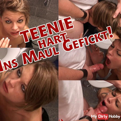 Teen fucked hard in the mouth!