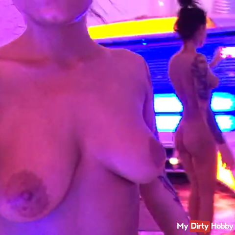 Close up pussy and hot body in the solarium