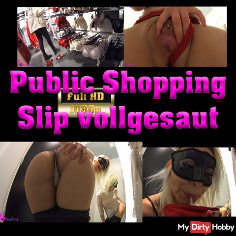 Public Shopping - Slip fully glued and hanged back thrown back