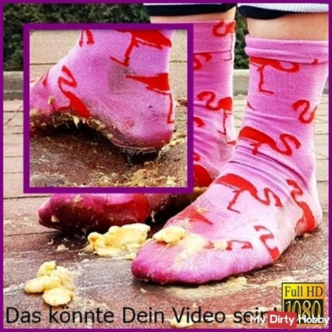 Customer request - Socks flamingo mud