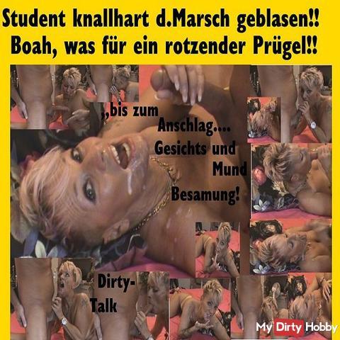 Student knallhart #Cumshot blown the march ...