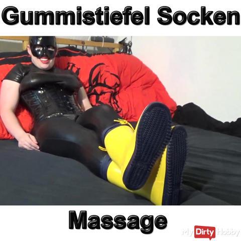 Gummistiefel Socken Massage