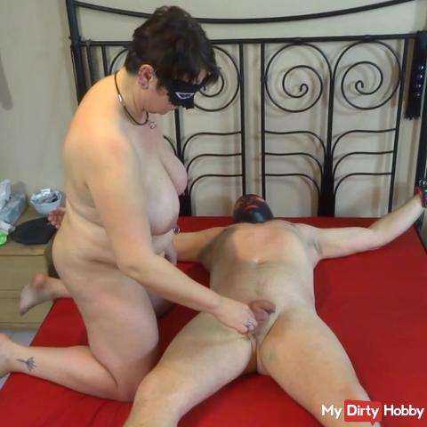 Devotion treats the slave with a pinwheel