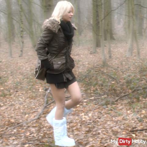 In den Wald gepi**t