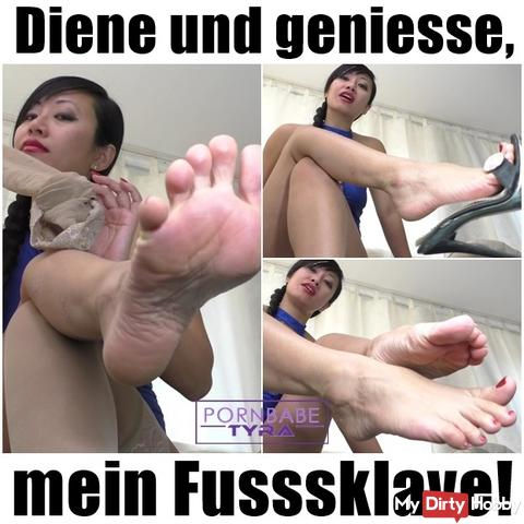 Serve and enjoy, my foot slave!