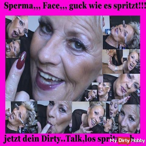 Spermaface your Dirty Talk! Now you spray off ...