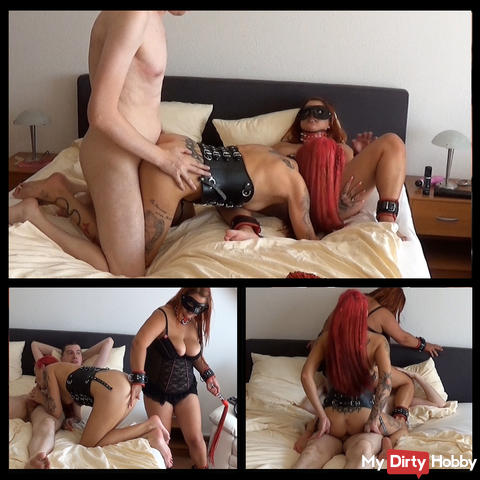 A horny threesome with his wife 3