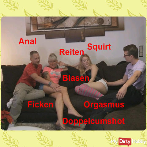MMFF - crazy 4 with 2 naughty blondes!