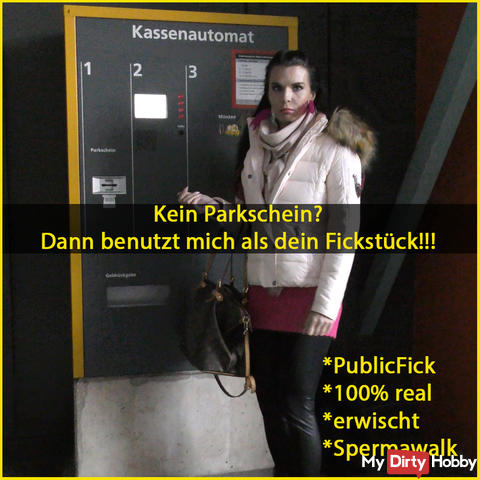 No parking ticket? Then use me as Fickstück !!!