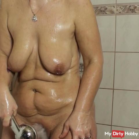 When showering