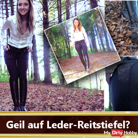 Wichsanleitung in leather riding boots!