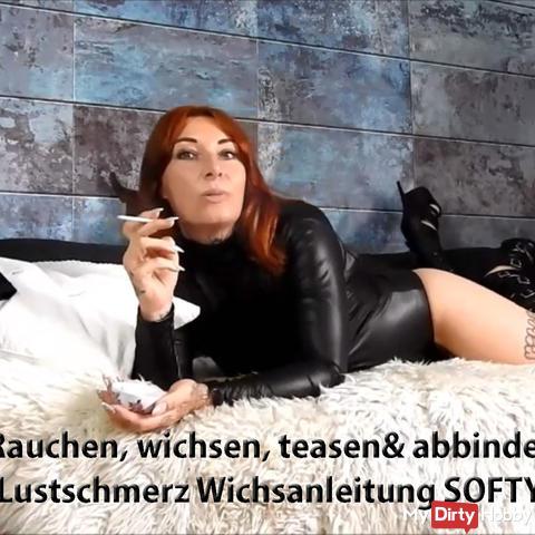Wichsen, teasen& abbinden!Lustschmerz Wichsanleitung SOFTY!   | by Lady_Demona