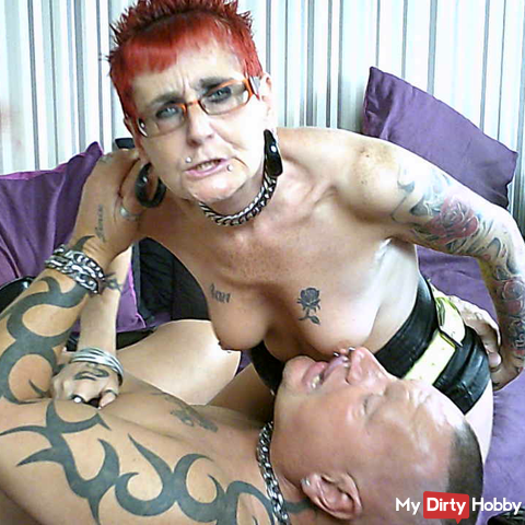 Dirty Tattooed English Fuckers in Leather Boots