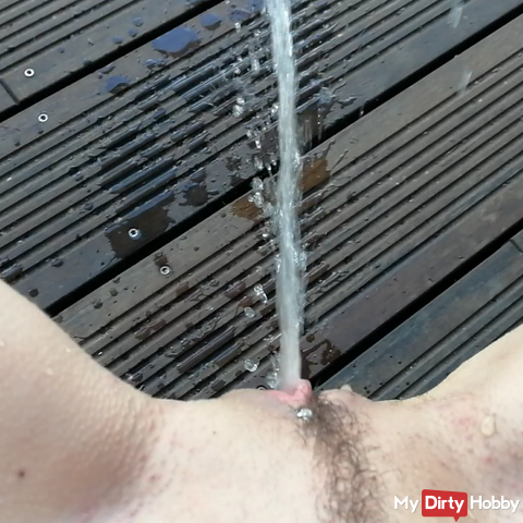 My first outdoor squirt