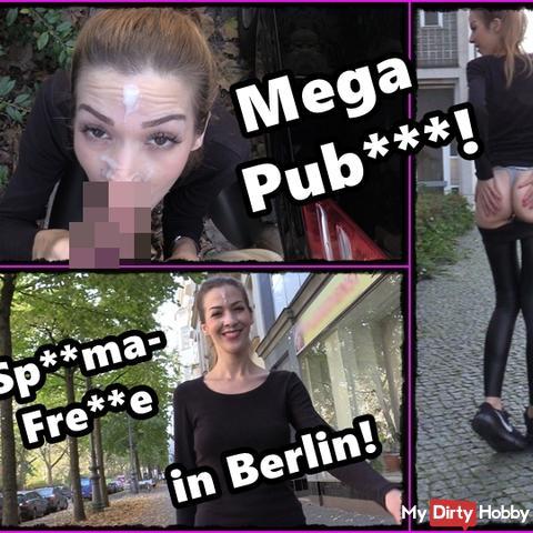 Mitten in der Stadt! Public bl*wjob und sper*awalk!