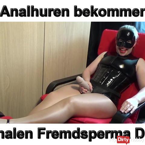 Forced Bi Analhuren get anal foreign sperm dip