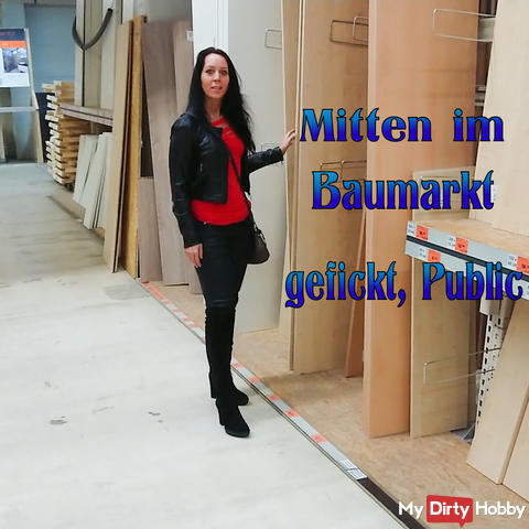 Fucked in the middle of the hardware store, Public