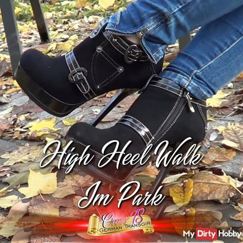 High Heel Walk im Park in s*xy Jeans