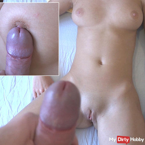 My stepbrother's hard cock plays with my tits