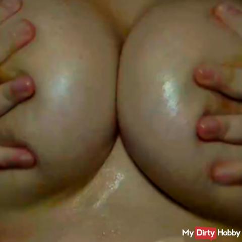 Big boobs caress