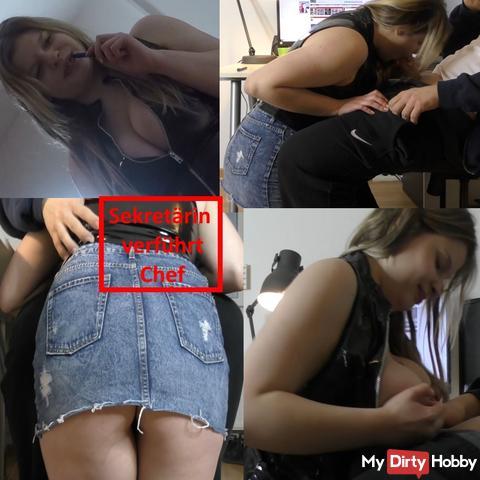 Secretary seduces boss
