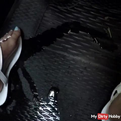 Stepmom Wetting  Jeans and Car Seat
