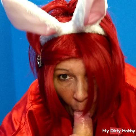 Red Bunny Blowjob