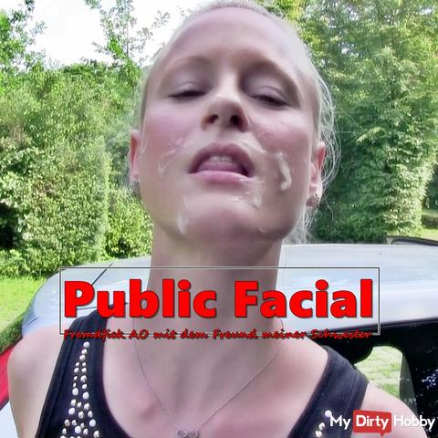 Public Facial to AO Fremfick with my sister's friend
