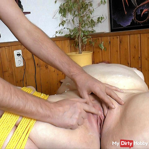 Tied up girlfriend shaved fingered and licked