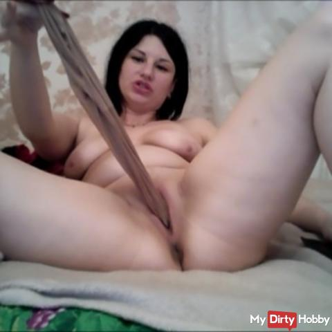 I put whole panties in my tight pussy11
