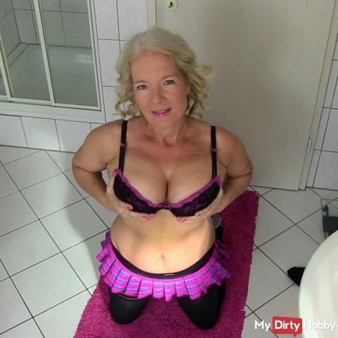 Devote bitch begging for your sperm!