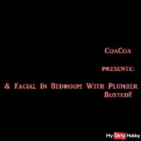 s*x @ Riesige Gesichtsbehandlung im Schlafzimmer während  Vermieter und Spenglerei reparieren Badewa