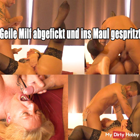 Horny Milf Fucked and injected into the mouth