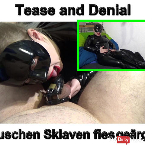 Tease and denial chastise slaves annoyed!