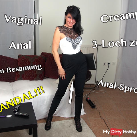 AO in the ass! Scandal! Teacher fucked in the ass