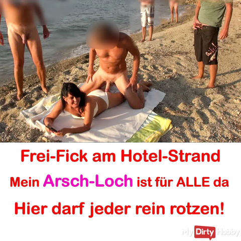 Mass Ass Fuck at Hotel Beach! Free fuck for ALL