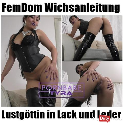 FemDom Wichsanleitung - Lustgöttin in paint and leather