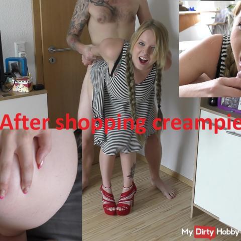 Hard Fuck after my shopping tour!!! (Cumshot)