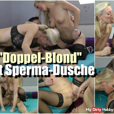 """Double Blonde"" with cum shower"
