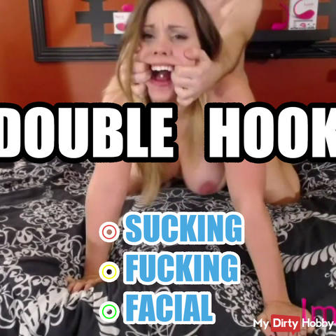 Rough double finger fishhooking and unapproved cum in mouth!