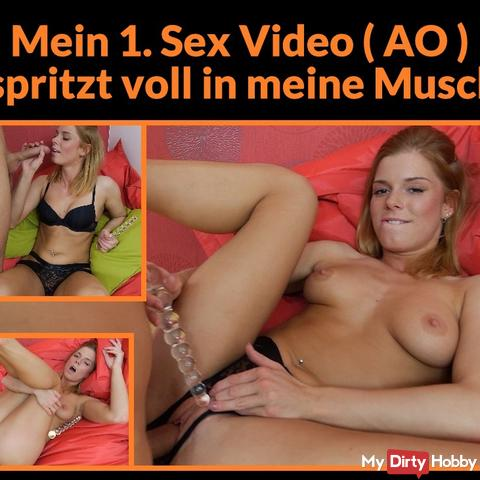 My first sex video (AO) and same with creampie