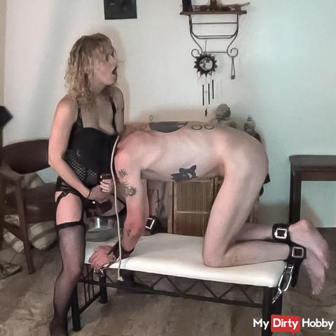 I fill his greedy pig whore asshole and bust some balls. Part 3 of 3