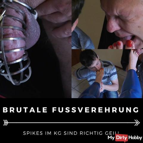 Brutal foot worship